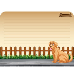 Line paper design with pet dog vector
