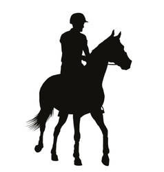 Equestrian sport silhouettes vector