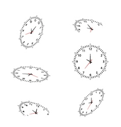 Clocks for you design vector