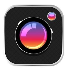 Colorful camera icon vector