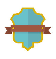 Badge guardian icon flat style vector