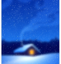 Blurred winter background vector image vector image