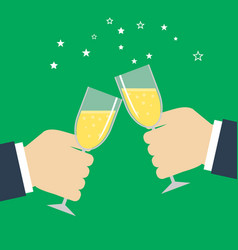 Business success celebration hands holding vector