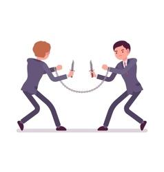 Businessmen khife fighting vector