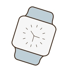 Cartoon classic analog watch wearable technology vector