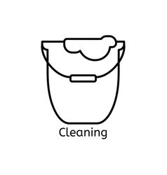 cleaning simple line icon wash thin linear signs vector image vector image