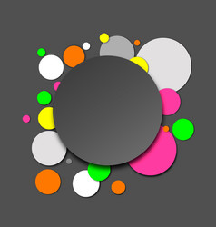 colorful neon paper circles vector image