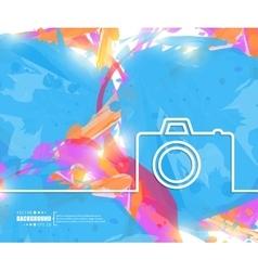 Creative photo camera art vector