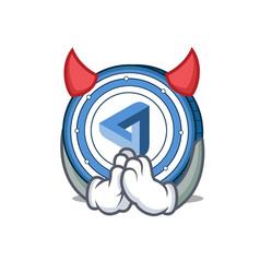 Devil maidsafecoin mascot cartoon style vector