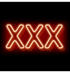 Erotic neon sign vector image