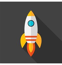 Flat stylized rocket vector image