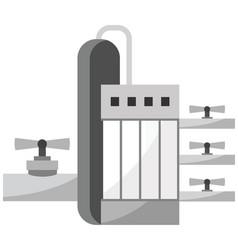 Gas plant icon vector