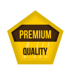 golden premium quality label icon flat style vector image vector image