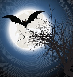 Halloween bat background vector