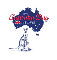 happy australia day 26 vector image vector image