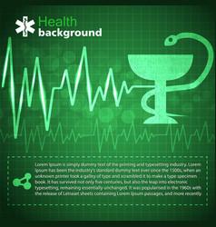 Medical green background vector
