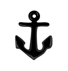 Nautical isolated icon with anchor vector