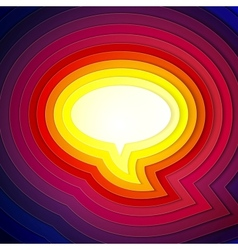 Rainbow paper layers chat bubble symbol vector