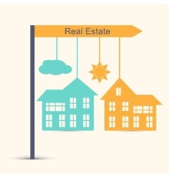 Real estate design concept vector