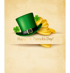 Saint patricks day background with clover leaves vector