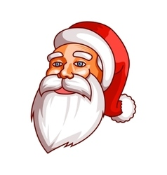 Santa claus emotions part of christmas set calm vector