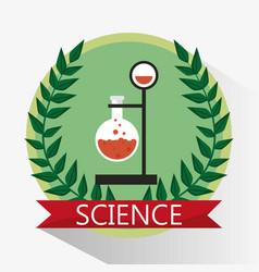 Science laboratory beaker stamp vector