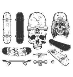 set of skateboards vector image vector image