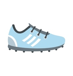Soccer shoes flat icon vector