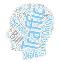 Walk in traffic schools a bleak future text vector