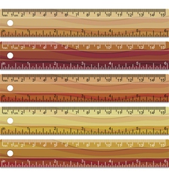 wooden rulers vector image