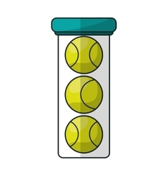 Isolated ball of tennis design vector