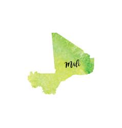 abstract mali map vector image