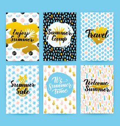 Summer trendy hipster posters vector
