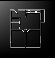 Apartment house floor plans  gray 3d vector