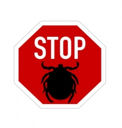 stop sign for ticks vector image
