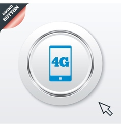 4g sign mobile telecommunications technology vector