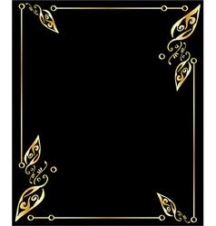 Gold leaf frame vector image