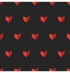 Flat devil heart seamless pattern vector