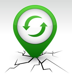 Refresh green icon in crack vector