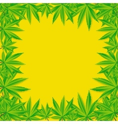 Abstract cannabis background vector