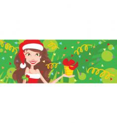 girl with present vector image