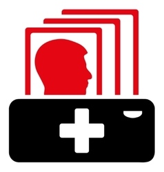 Patient catalog icon vector