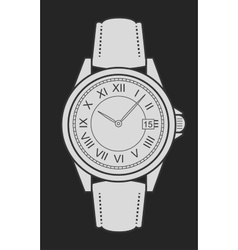 Business style hand watches chalk on blackboard vector