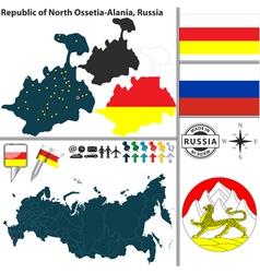 Map of republic of north ossetia alania vector