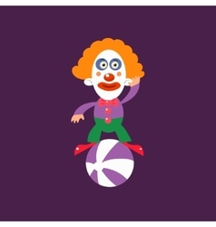 Clown balancing on ball vector