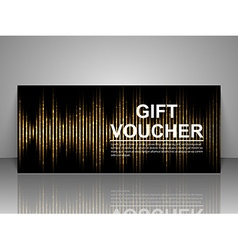 Gift voucher template abstract futuristic vector