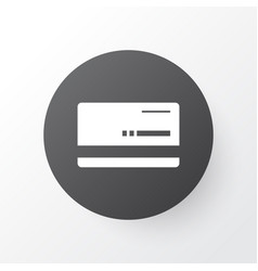 Bank card icon symbol premium quality isolated vector