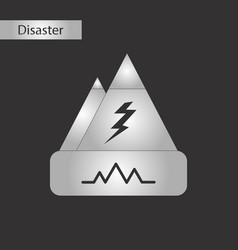 black and white style icon disaster earthquake vector image vector image