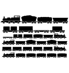 cargo train set vector image