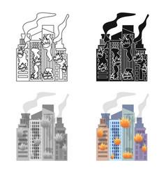 City single icon in cartoon stylecity vector